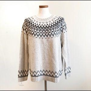 NWT Talbots fairisle oversized petite sweater